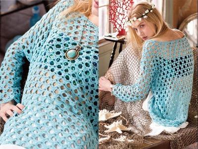 #2 Boatneck Top, Vogue Knitting Crochet 2014