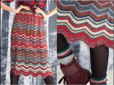 #32 Zig Zag Skirt, Vogue Knitting Winter 2011.12