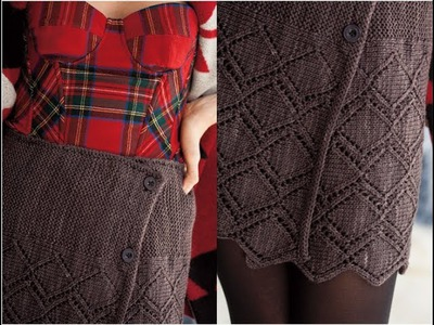 #33 Buttoned Skirt, Vogue Knitting Winter 2011.12