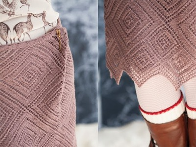 #35 Cinched Lace Skirt, Vogue Knitting Winter 2011.12
