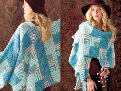 #35 Mitered Shawl, Vogue Knitting Crochet 2012