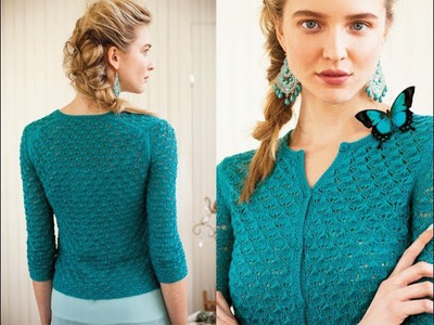 #4 Classic Lace Cardigan, Vogue Knitting Spring.Summer 2013