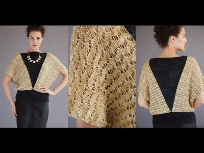 #5 Lacy Batwing Pullover, Vogue Knitting Holiday 2014