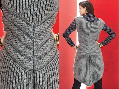 #5 Zippered Vest, Vogue Knitting Winter 2013.14