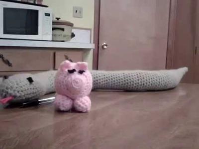 Amigurumi (crochet toy) Pig and Snake