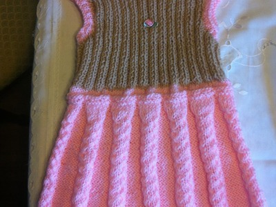 Babykleid Stricken*Mädchenkleid*Strickkleig Teil 4*Dress for girls knitting*Tutorial Handarbeit