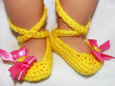 Ballerina Crochet Baby Booties - Left Hand Tutorial