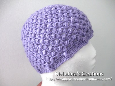 Bean Stitch Beanie - Left Handed Crochet - Baby - Adult sizes