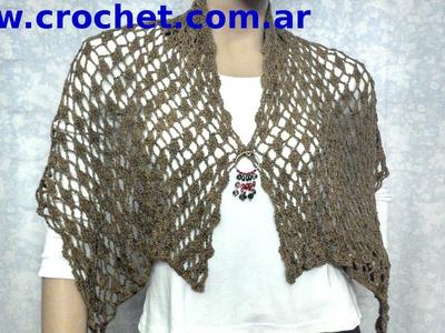 Bufanda Chalina en tejido crochet tutorial paso a paso.
