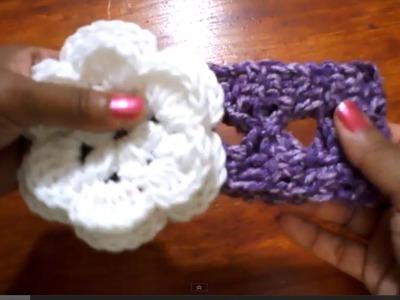 Cintillo con pasa cinta (version 2) -Tutorial de tejido crochet