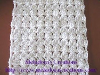 Cluster Stitch Scarf - Left Handed Crochet Tutorial