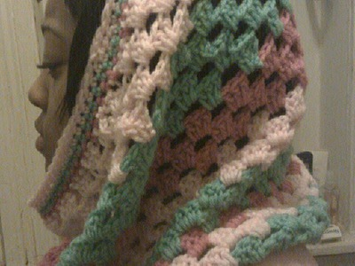 Cowl Crochet Tutorial - Granny on the Straight - Variation 4