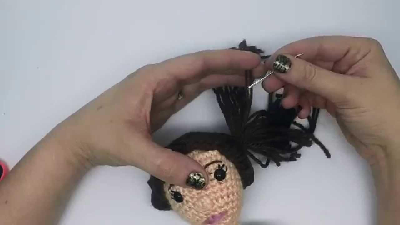 Crochet Amigurumi HAIR tutorial with CraftyisCool AmiguruME