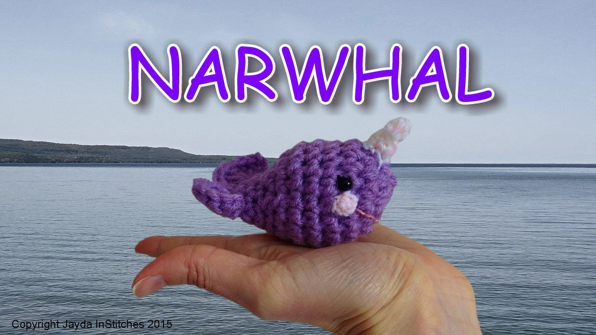 Crochet Amigurumi Narwhal Tutorial - Great Beginner Project