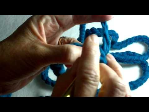 Crochet an Infinity Scarf part 1 learn chain stitch, & Modified Half Double Crochet Day 16