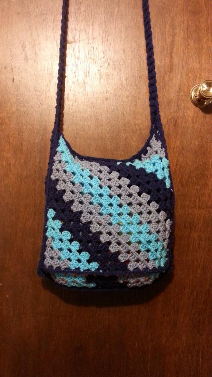 #Crochet #bookbag messenger bag #TUTORIAL #Purse #handbag #satchel