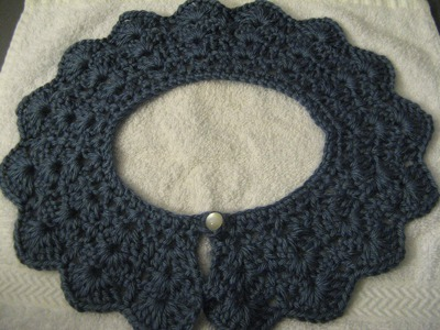 Crochet collar. peter pan collar. lace look collar