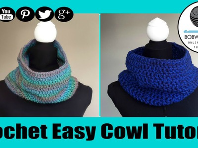 Crochet Cowl Tutorial - Easy