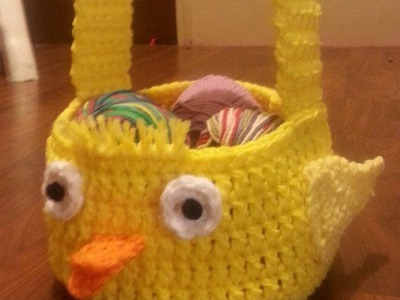 #Crochet Easter chick #Easter #Basket #Tutorial