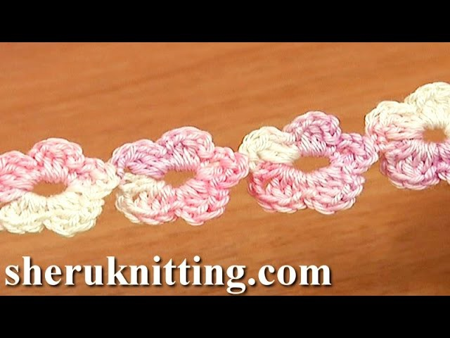 Crochet Floral Cord Tutorial 55 Five-Petal Flower Cord