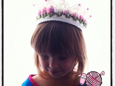 Crochet Flower Girl Crown Tutorial