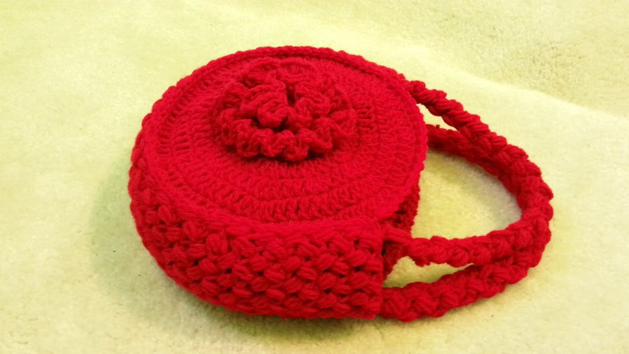 #Crochet Flower Handbag Purse #TUTORIAL Free crochet project