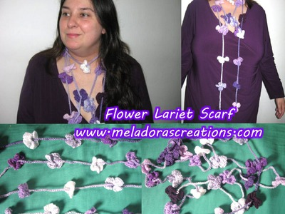 Crochet Flower Necklace Scarf - Crochet Tutorial
