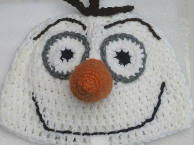 "#Crochet ""Frozen"" inspired Snowman hat ( video one )"