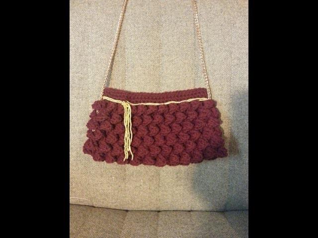 Crochet handbag purse clutch free tutorial