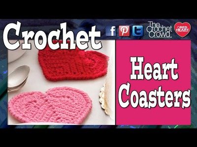 Crochet Heart Coaster Tutorial