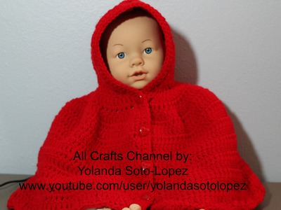 "#Crochet hooded cape Inspired by ""Little Red Riding Hood"" Video 1"