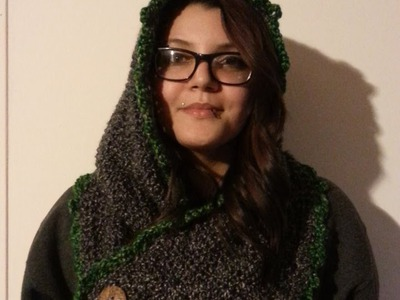 #Crochet Hooded Cowl #TUTORIAL DIY CROCHET Hooded Cowl Scoodie