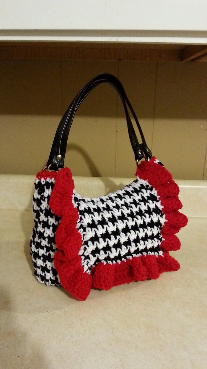 #Crochet Houndstooth Stitch Handbag Purse #TUTORIAL