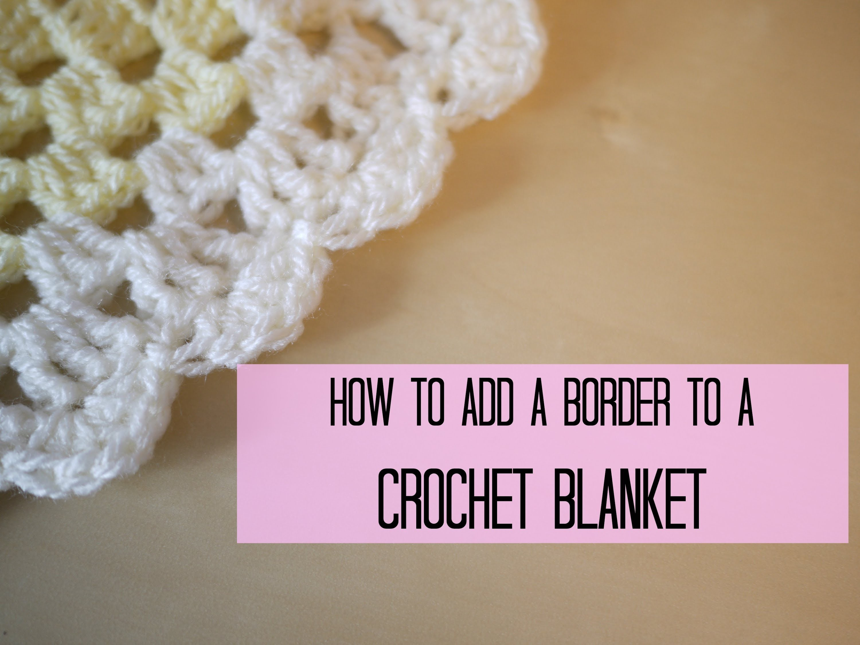 CROCHET: How to add a crochet border (scalloped.shell edging) | Bella Coco