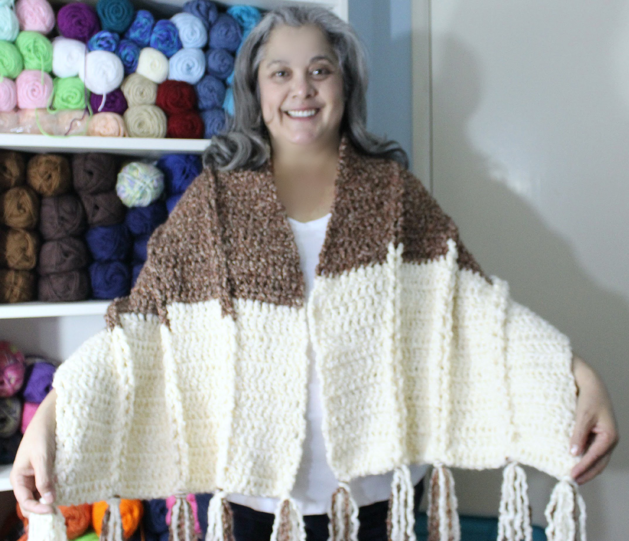 #Crochet - Jacobs Ladder shawl