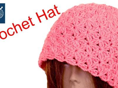 Crochet Lefty Blossom Beanie Hat - How to Make Crochet Geek