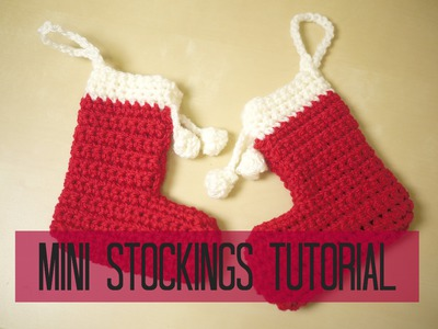 CROCHET: Mini christmas stocking tutorial | Bella Coco