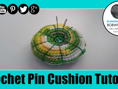 Crochet Pin Cushion Tutorial - Whip it up Wednesday