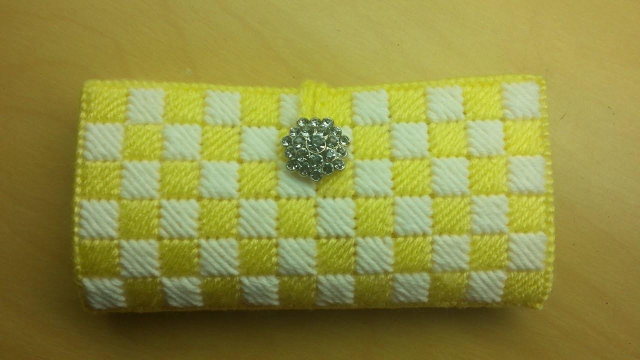 #Crochet plastic canvas #Clutch Wallet #TUTORIAL