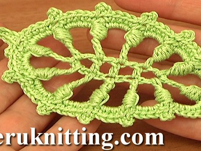 Crochet Puff Stitch Leaf Tutorial 32 Free Crochet Leaf Patterns