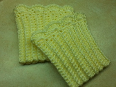 #Crochet Quick and Easy Boot Cuffs #TUTORIAL DIY Homemade How to crochet boot cuffs