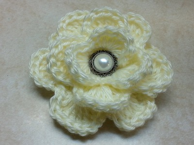 #Crochet Rose Flower #TUTORIAL How to crochet a rose DIY crochet