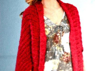 #Crochet Shrug - Lion Brand free pattern download (English)