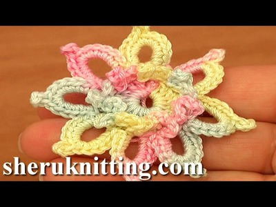 Crochet Small Pretty 8 Petal Flower Tutorial 85 Free Crochet Flower Patterns