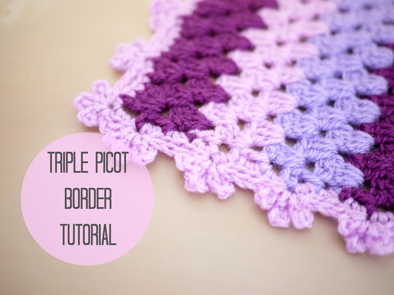 CROCHET: Triple picot border tutorial | Bella Coco