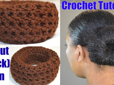 "Crochet Tutorial - Donut ""Sock"" Bun Maker Simple & Quick Crochet Project"