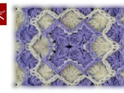 Crochet Wheel Stitch Square Part 2 - Bavarian Crochet Crochet Geek