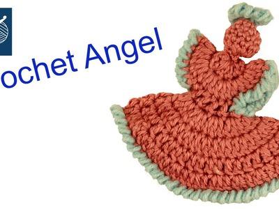 Dainty Crochet Angel - How To DIY Left Hand Crochet Geek
