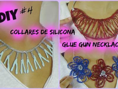 DIY Collares de Silicona. Glue Gun Necklaces