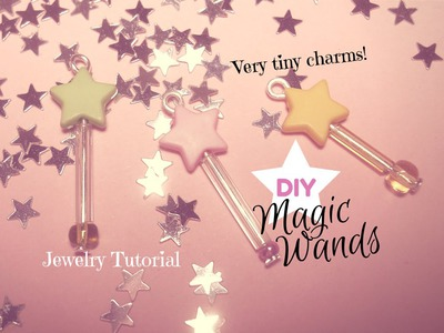 DIY Magic Wand Charms with Beads ☆ Bacchette Magiche con le Perline ✧ Jewelry Tutorial